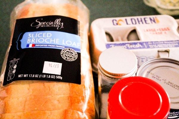 close up of brioche bread