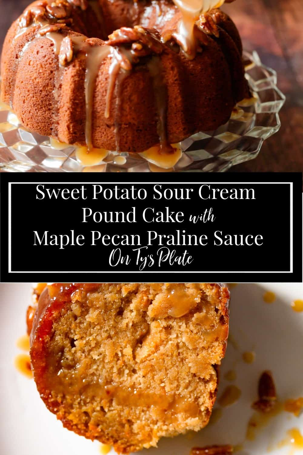 Ty's Sweet Potato Sour Cream Pound Cake