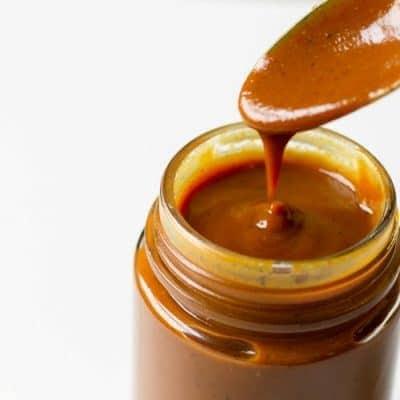carolina style barbecue sauce in a jar