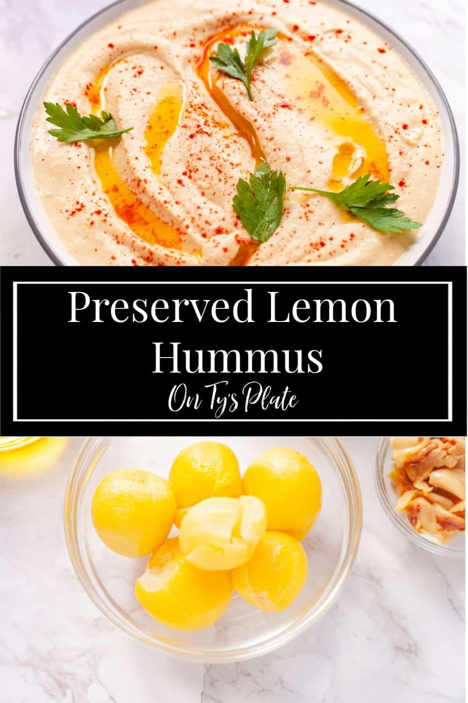 Roasted Garlic Preserved Lemon Hummus