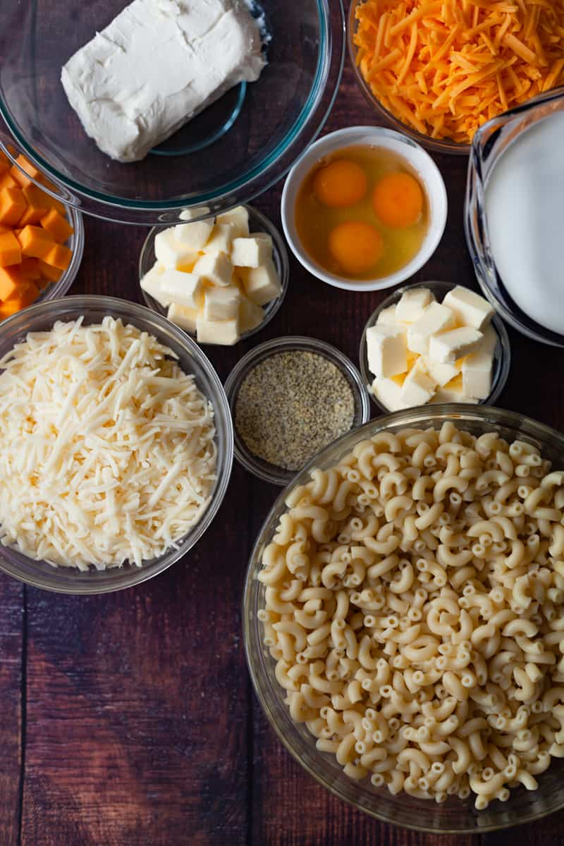 baked macaroni and cheese ingredients