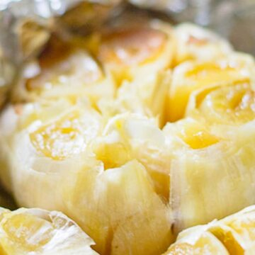roasted garlic in foil