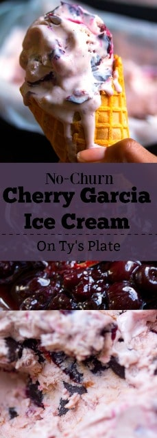 cherry chocolate chunk ice cream pinterest pin