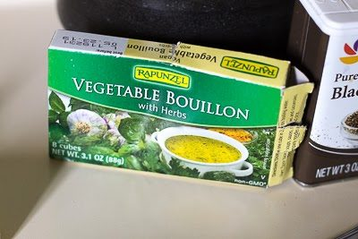 a box of vegetable stock base