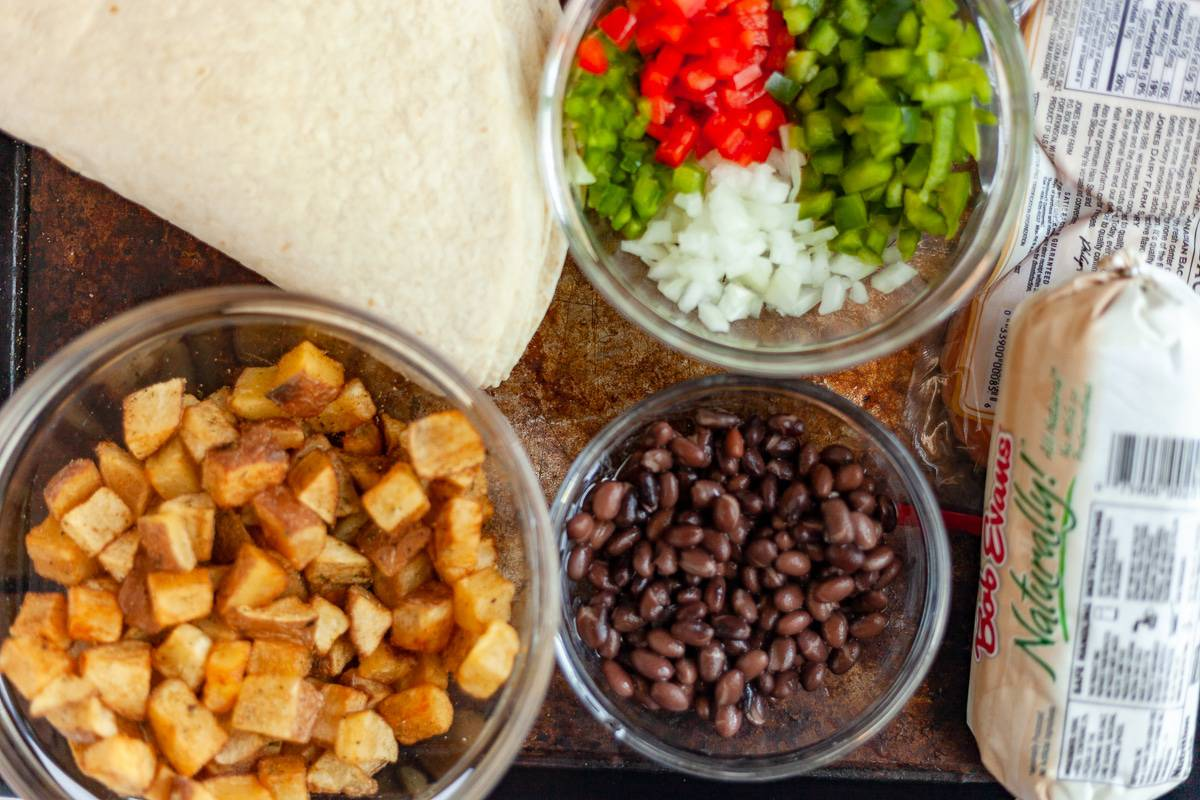 burrito ingredients