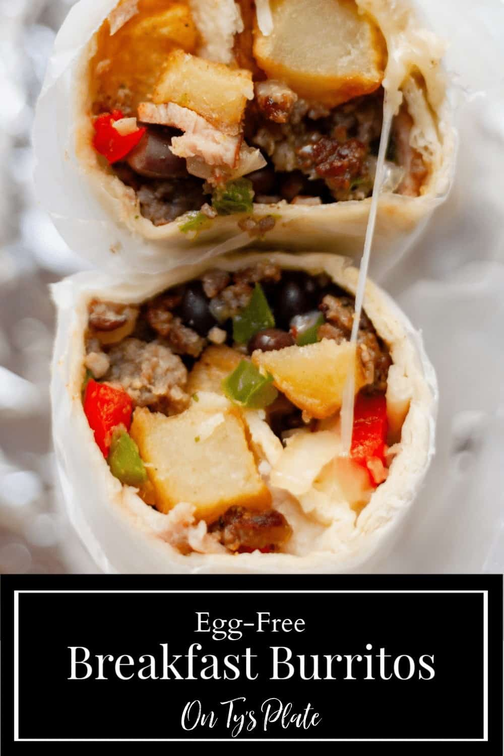Southwest Egg-Free Breakfast Burritos