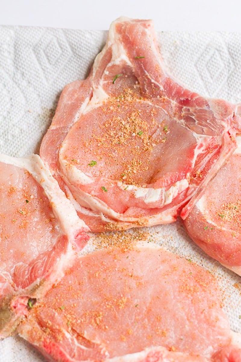 seasoned pork chops