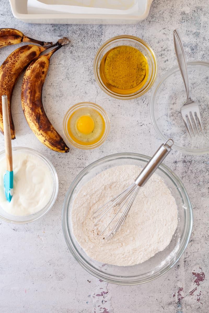 olive oil banana bread ingredients