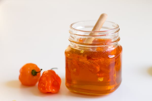 honey with habanero peppers