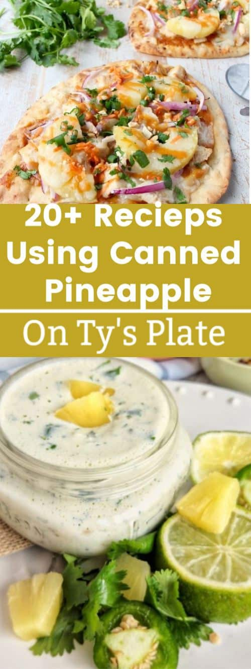canned pineapple pinterest collage