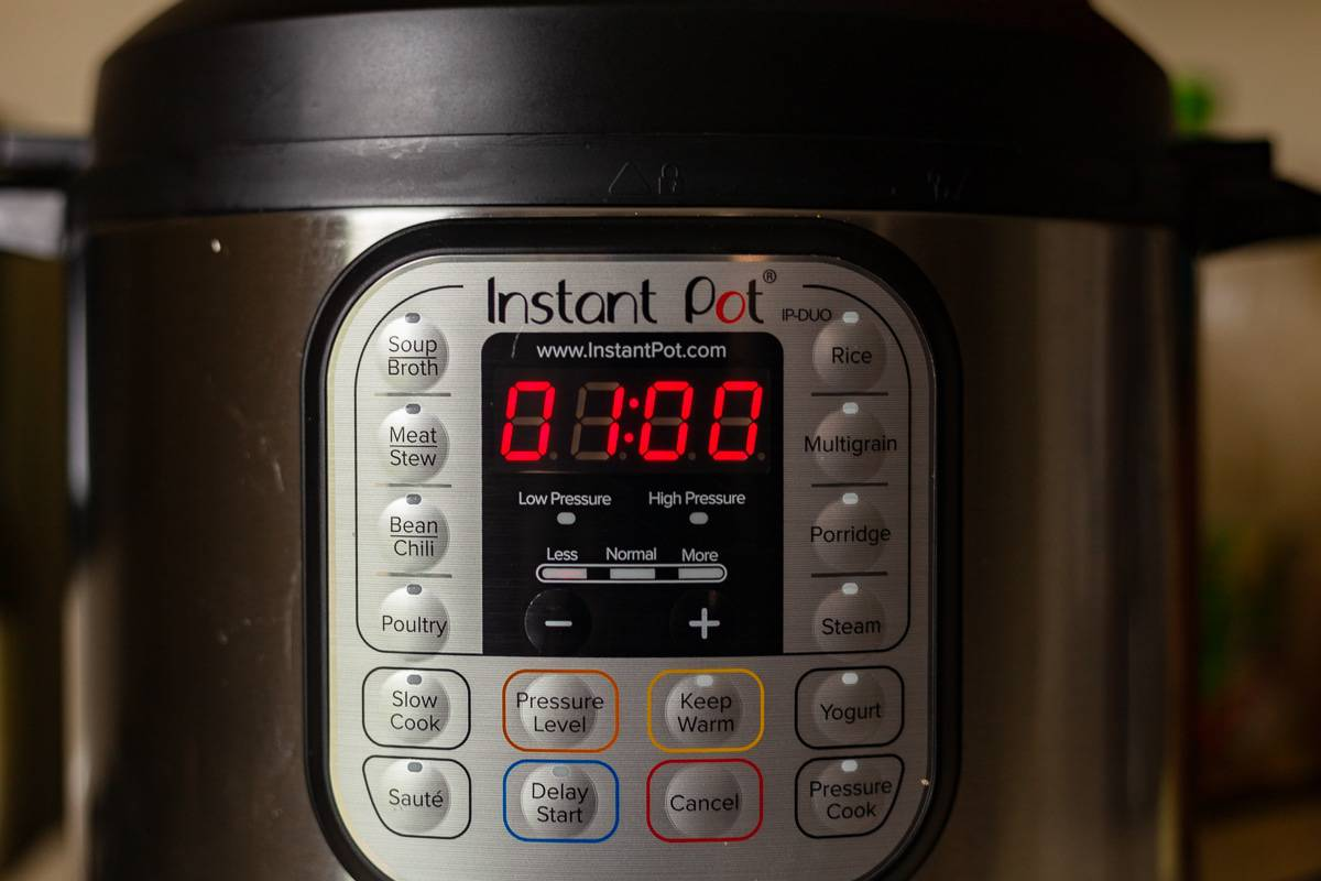 pressure cooker with timer