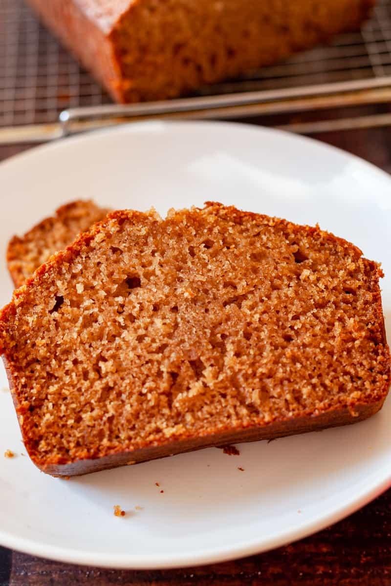 slice of apple cider bread
