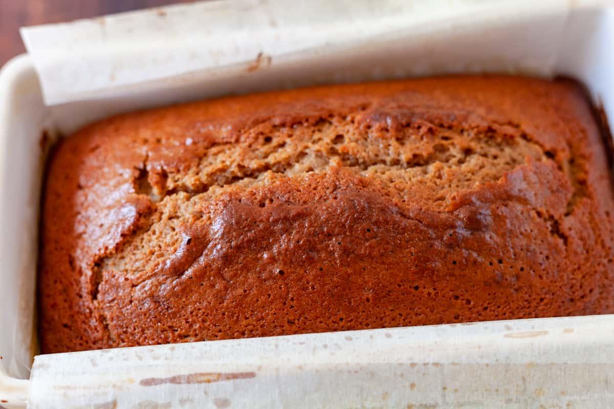 loaf of cinnamon apple cider bread