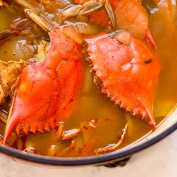 cooked crab stock