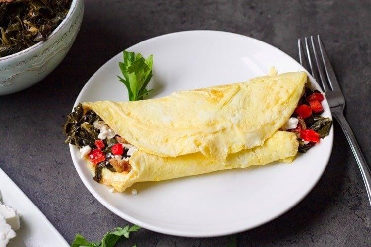 collard green omelet