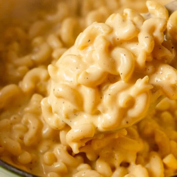 pot of macaroni and cheese