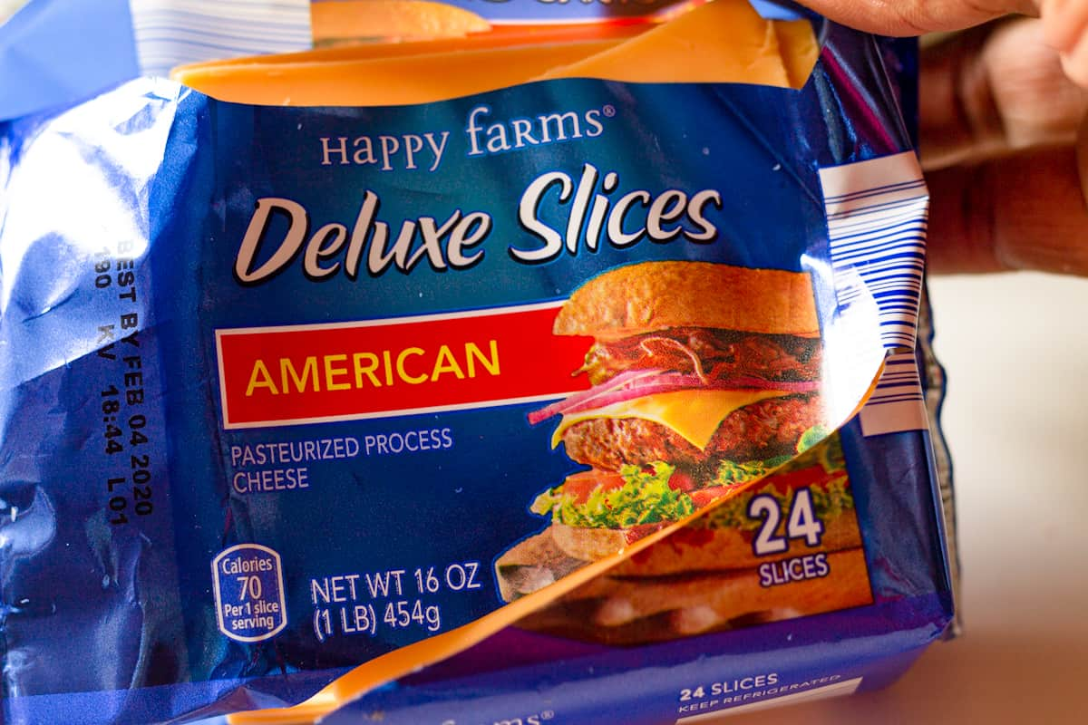 American cheese package