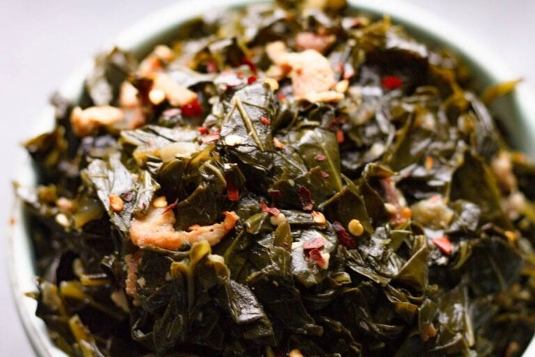 Spicy Southern Collard Greens with Bacon
