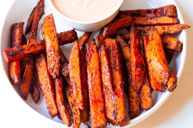 Sweet Potato Fries with Sweet Chili Mayo