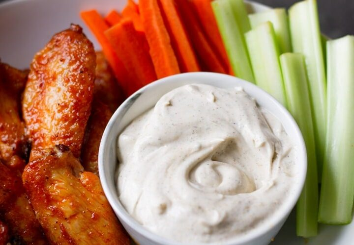 ranch dressing with buffalo wings
