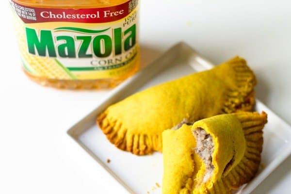 Prepared beef patties with Mazola corn oil