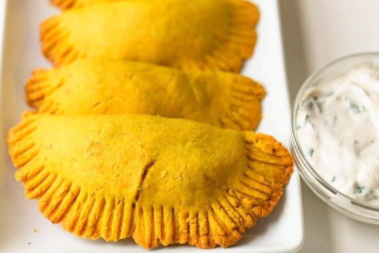 plate of Healthier Jamaican Beef Patties