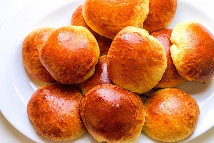 brioche buns on a platter