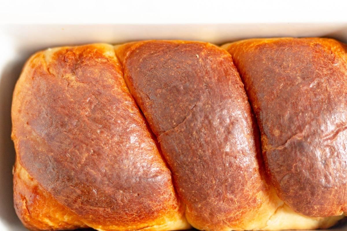 a loaf of brioche
