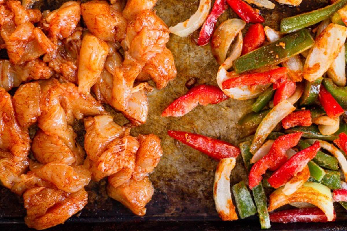 seasoned chicken and veggies