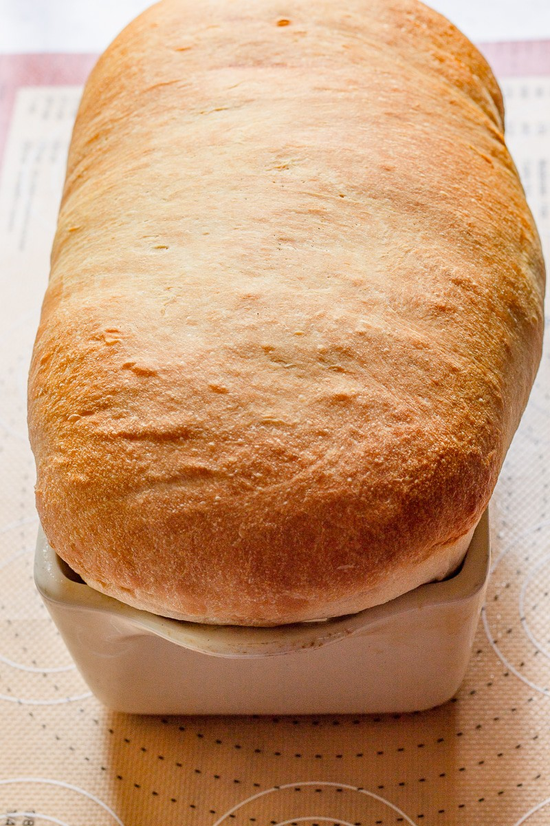 a load of homemade white bread baked