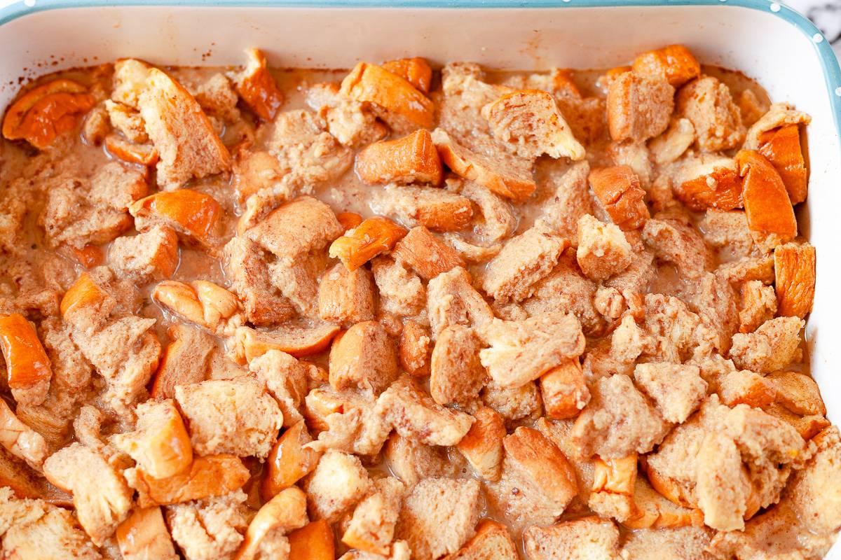 brioche bread cut into cubes