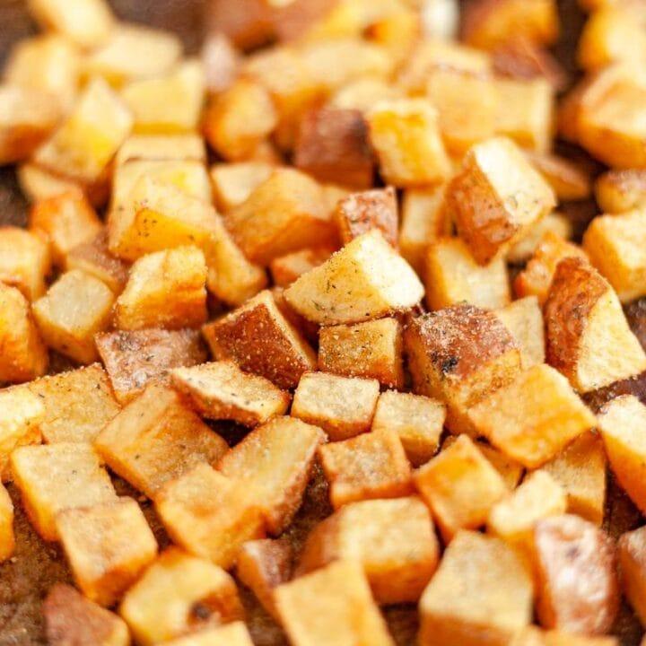 home fries close up