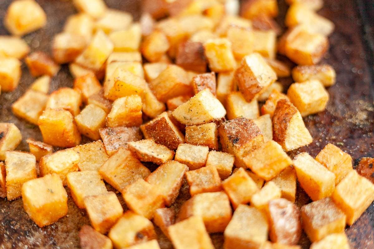 home fries close up