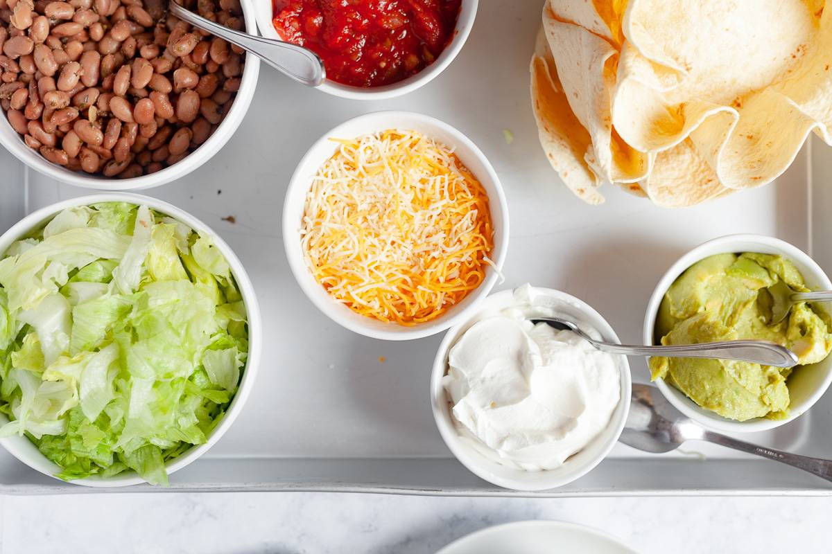 taco bowl ingredients