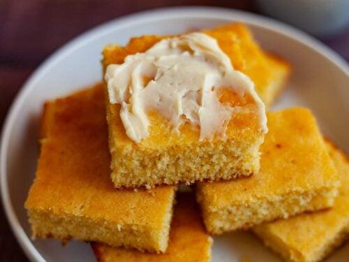 buttermilk cornbread with vanilla honey butter