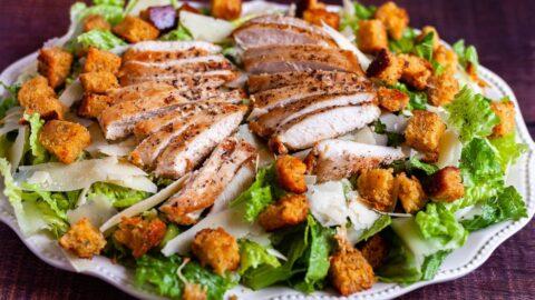 Caesar salad platter