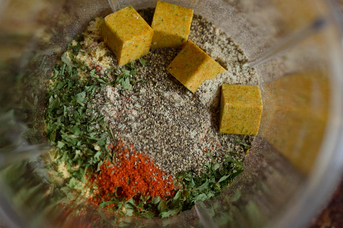 spices before grinding