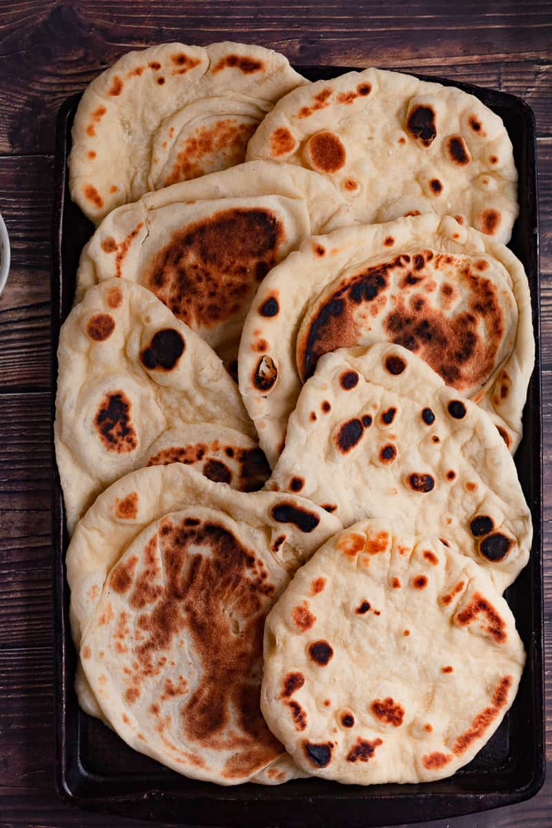 tray of naan