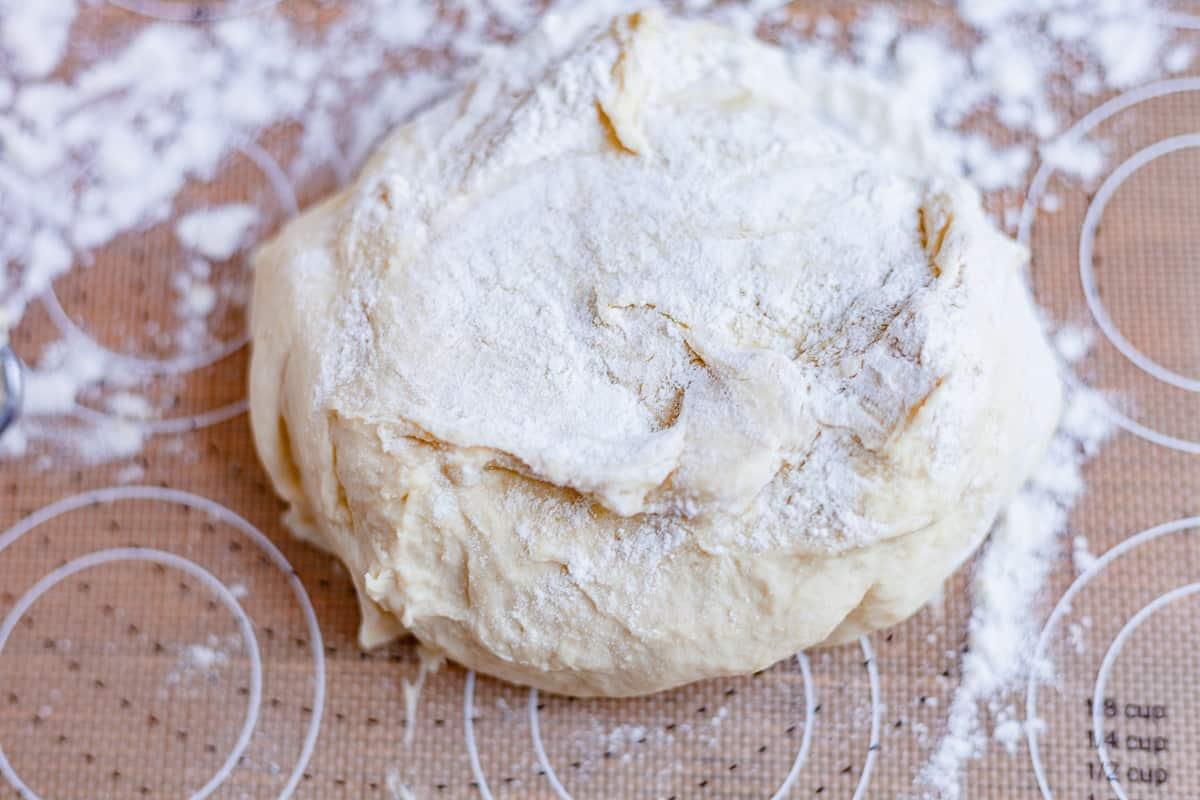 floured naan dough