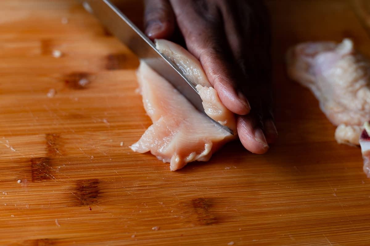 split chicken breast