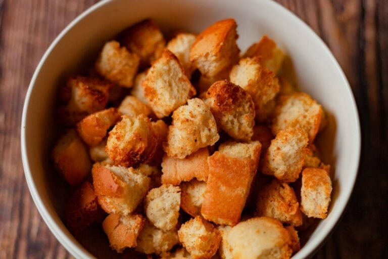 Easy Air Fryer Garlic Croutons with Oven Option