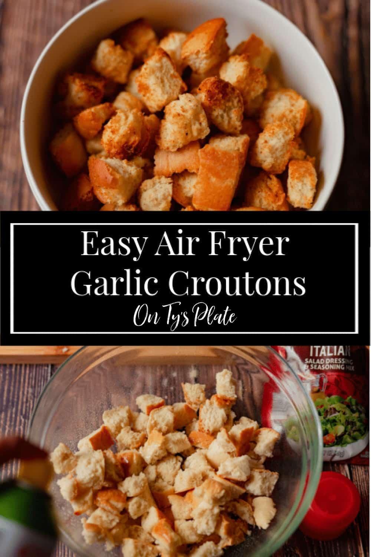 Easy Air Fryer Garlic Croutons