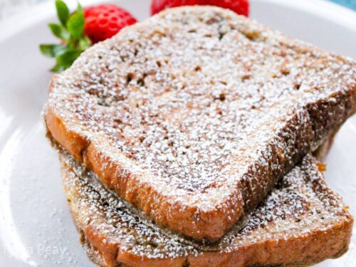 Plated brioche French toast