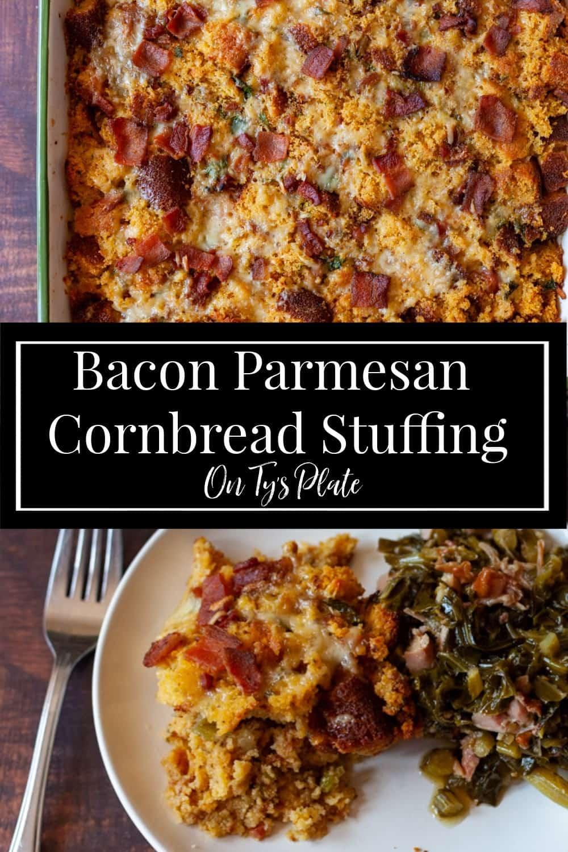 Bacon Parmesan Cornbread Stuffing