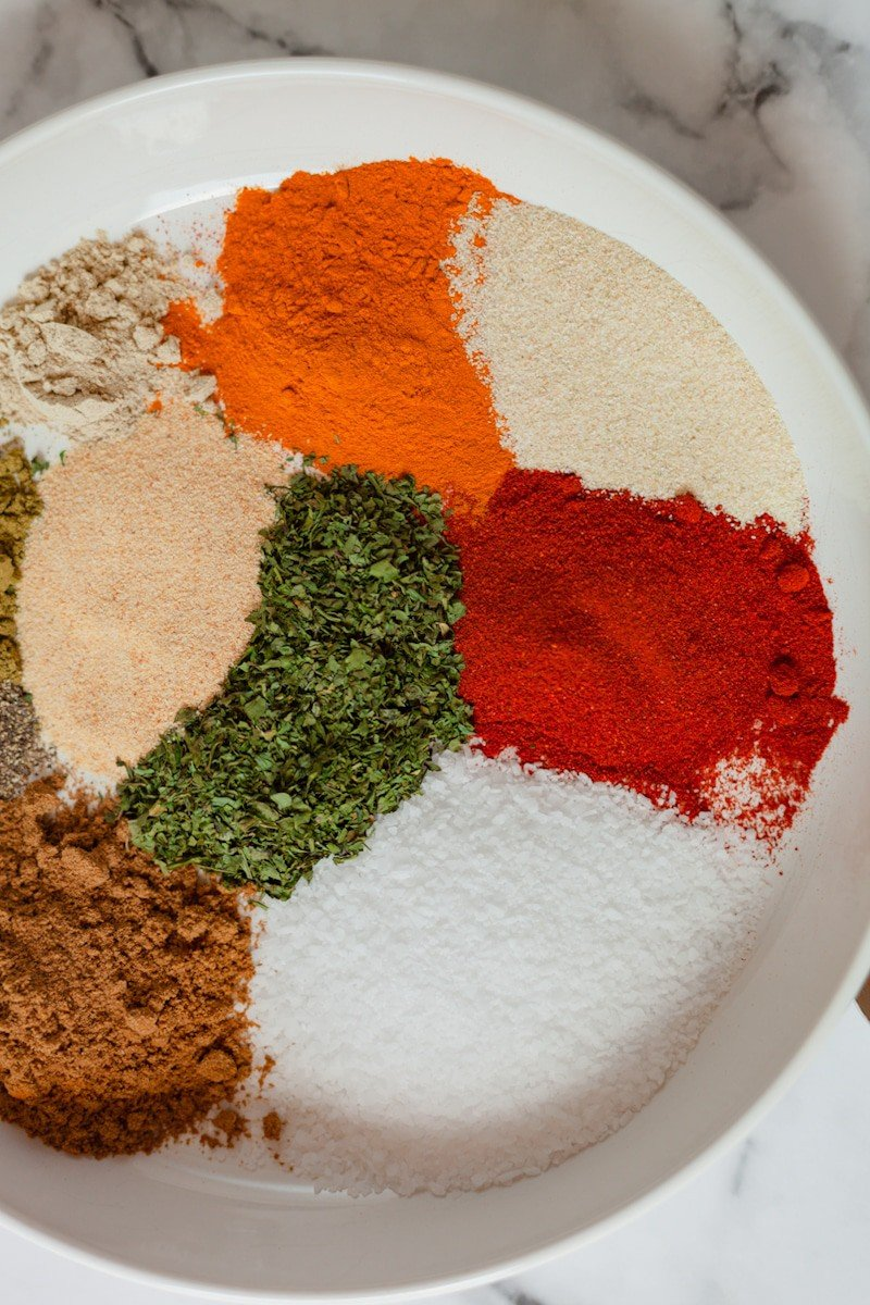 blend of spices vertical image