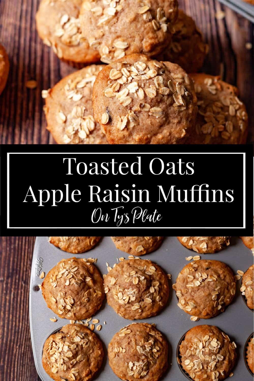Apple Raisin Toasted Oat Muffins