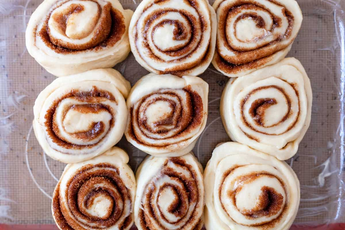 sliced cinnamon rolls