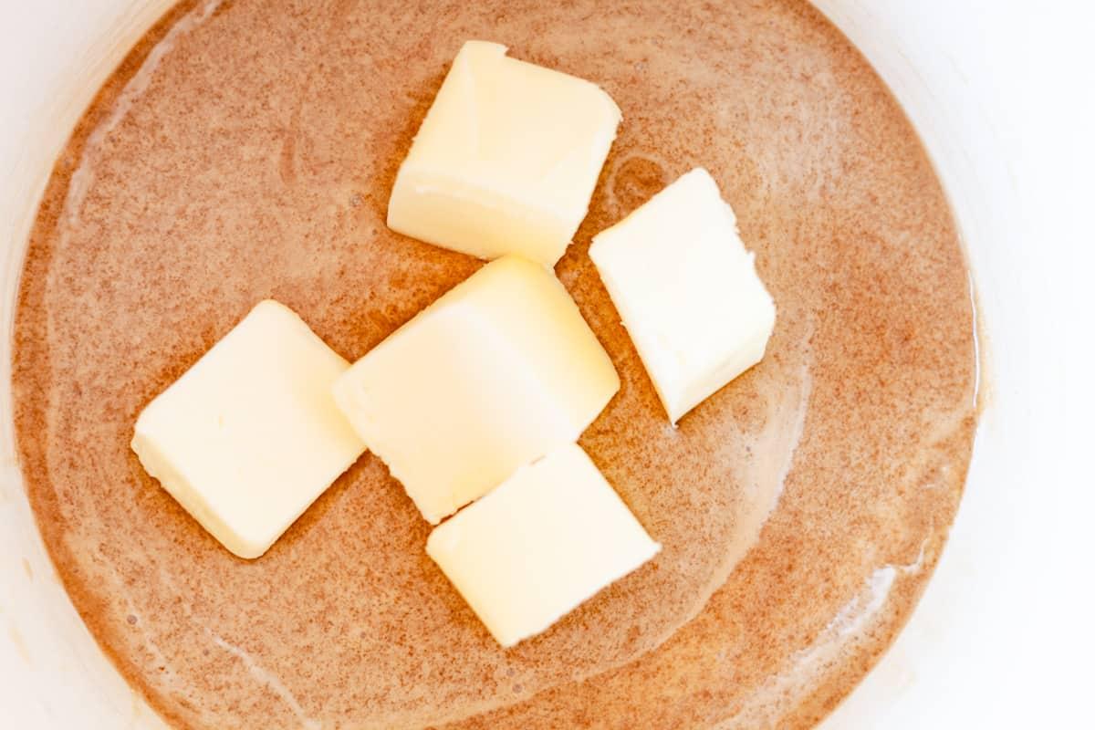 butter in caramel sauce