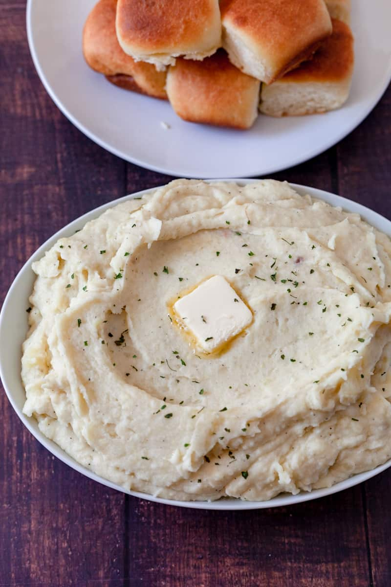 mashed potatoes in a bowl vertical