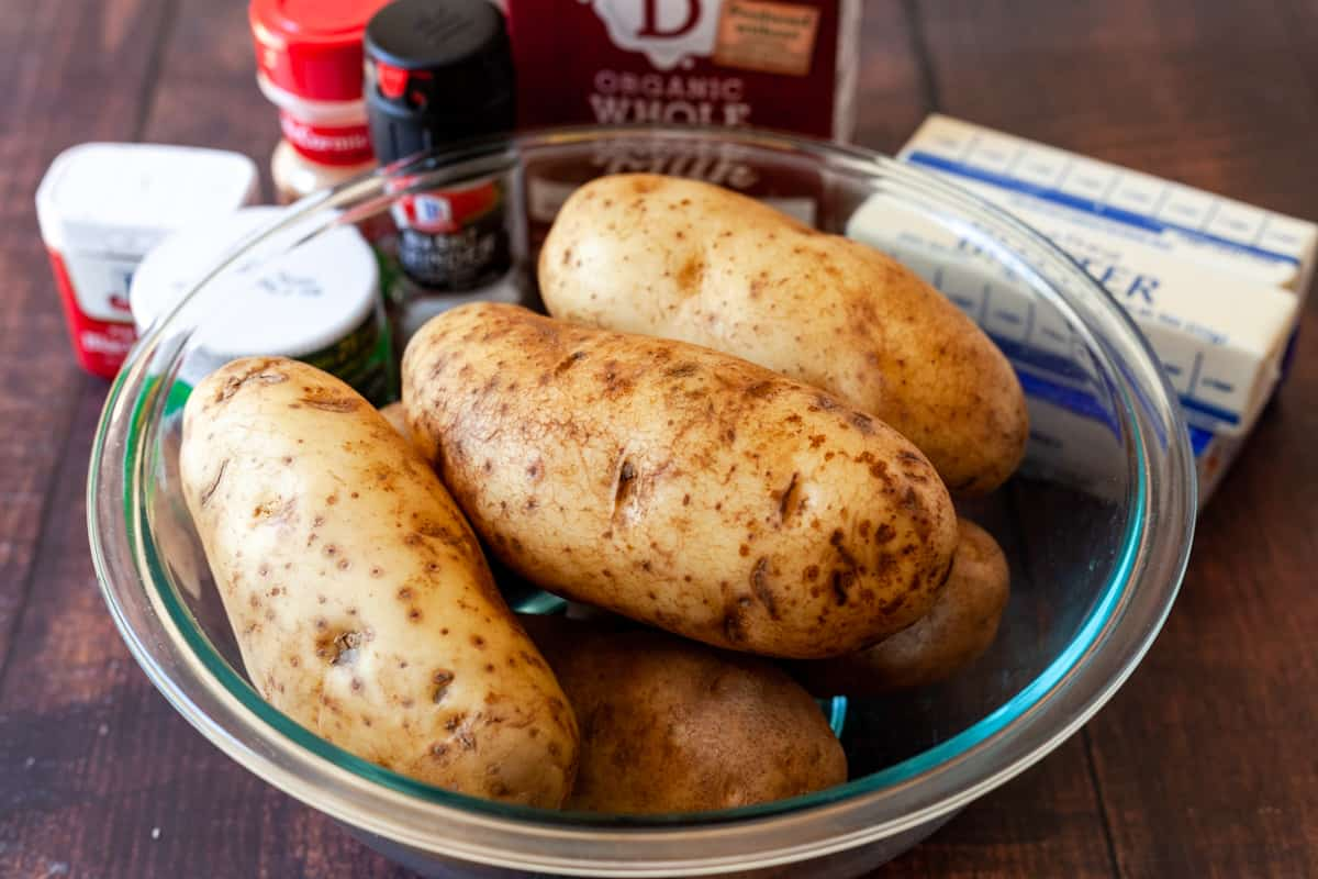 russet potatoes and other ingredients